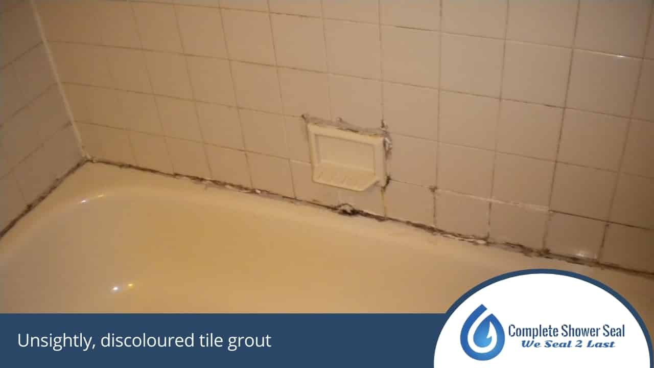 Unsightly, discoloured tile grout